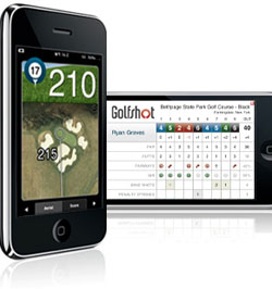 Golfshot GPS is a 4-star rated application that puts a Golf GPS right on your iPhone or iPod Touch