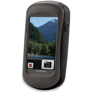 The Garmin Oregon 550/550t includes a built-in camera for geotagged photos. Select one of your photos and navigate back to where you took it.
